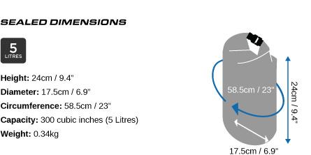 5 Litre Dry Bag Dimensions